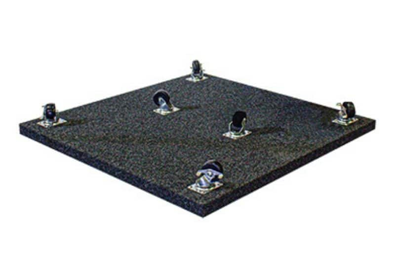 Image of the rolling Caster Plate for a WhisperRoom Sound Isolation Enclosure