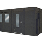 """image of a whisperroom sound isolation booth with a 10"""" height extension"""
