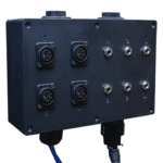 """The Multi-Jack Panel with 4 xlr inputs and 6 1/4"""" inputs"""