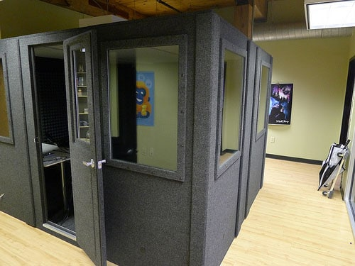 image of a whisperRoom in Mail Chimp's office