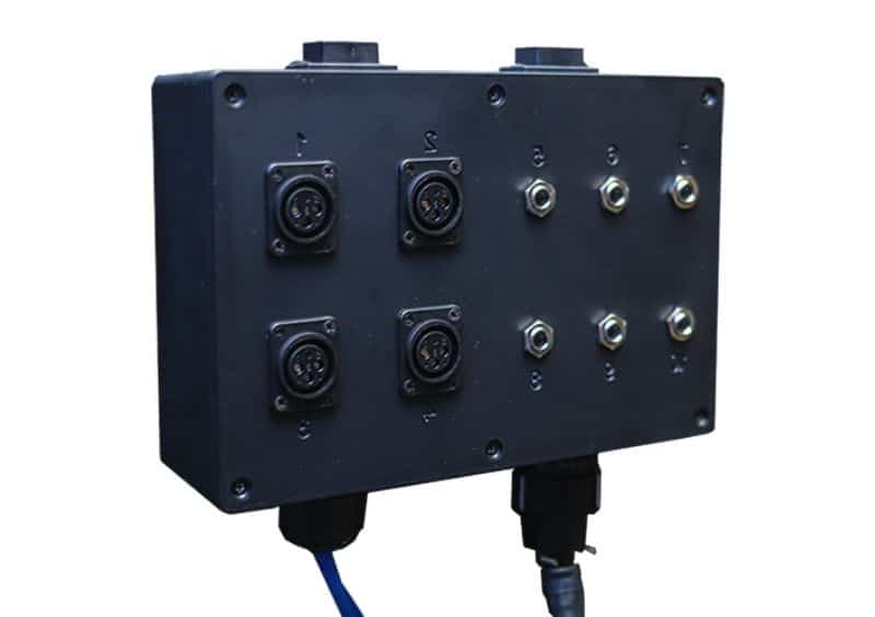 Image of the Multi Jack Panel for a WhisperRoom Sound Booth