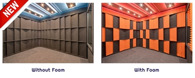 image of an acoustic wall panels and studio foam