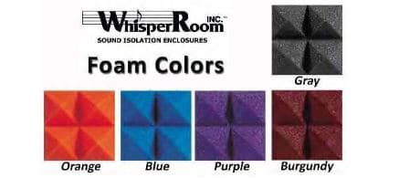 image of studio foam in five different colors