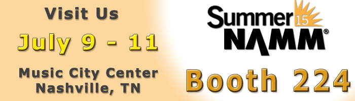 image of a banner ad used to promote the 2015 Summer NAMM Show