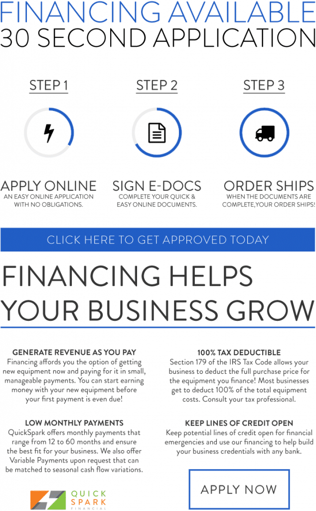 Click for Financing, 30 second Application. Three Step Process.