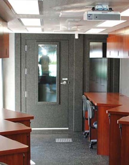 an image of a whisperroom booth that was installed inside a mobile trailer