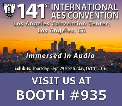 banner ad to promote the 141st AES Convention