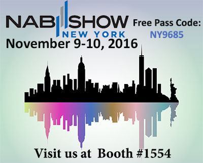 banner ad to promote the 2016 Winter NAB Show