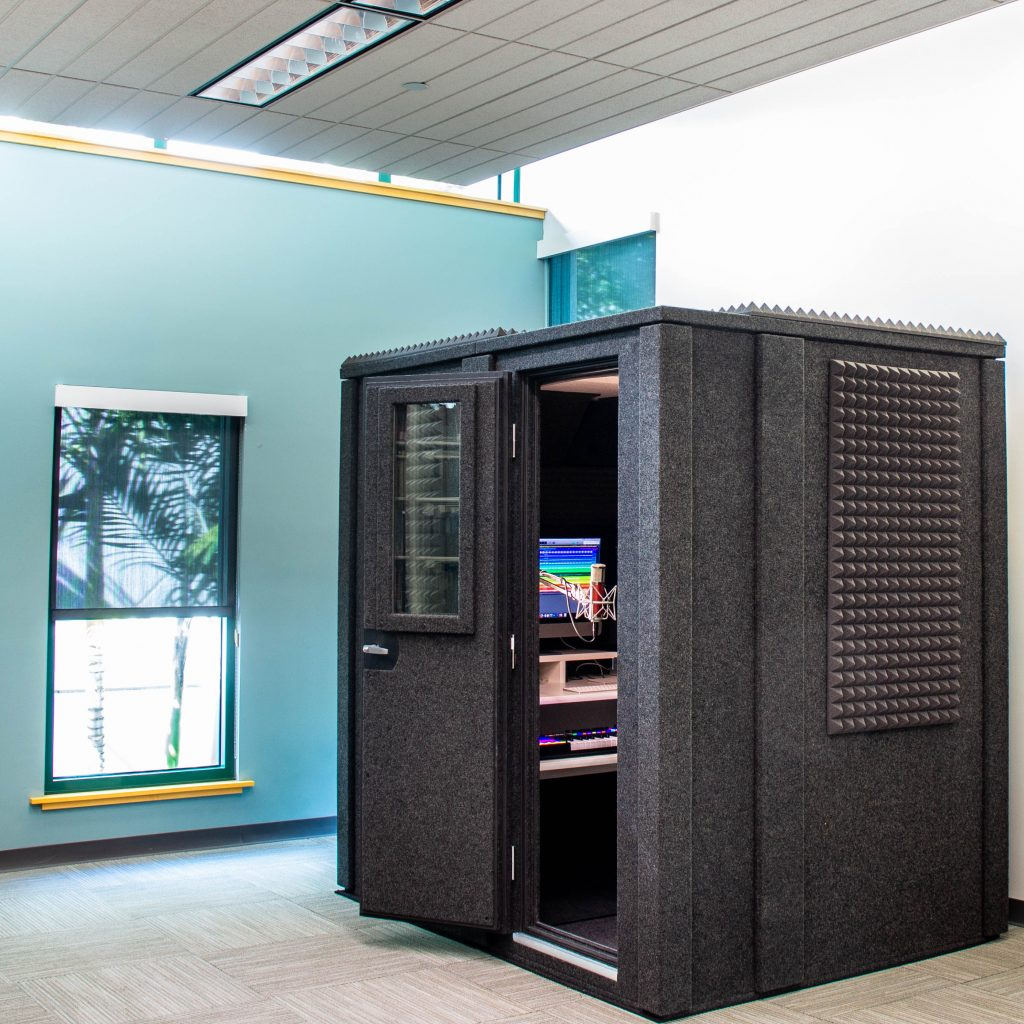 A WhisperRoom recording booth at the University of Miami