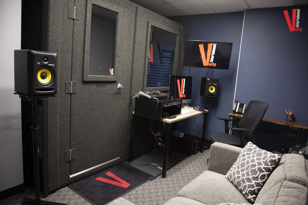 image of a whisperroom inside of production studio