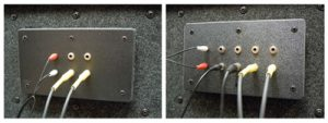 image of two different audio jack panels