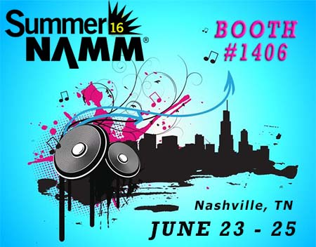 Banner ad to promote the 2016 Summer NAMM Show