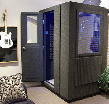 image of a whisperroom booth inside a recording studio