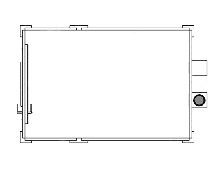 A top-down image of a Standard (Single-Wall) WhisperRoom soundproof room.