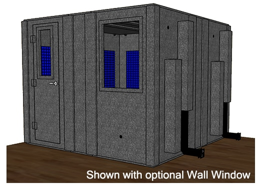 CAD drawing of a WhisperRoom 102102 S with a closed door