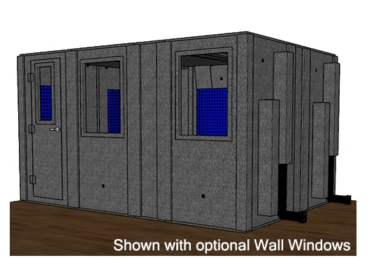 CAD drawing of a WhisperRoom 102144 S with a closed door