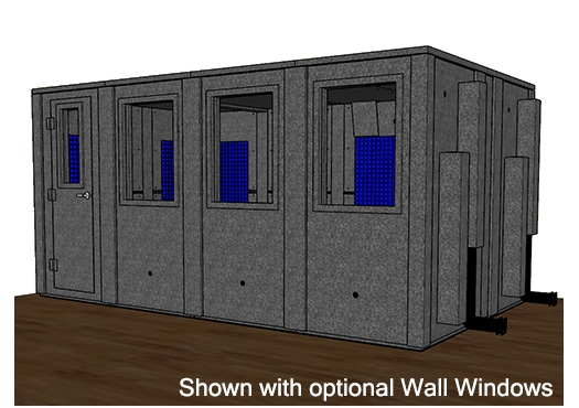 CAD drawing of a WhisperRoom 102168 E with a closed door