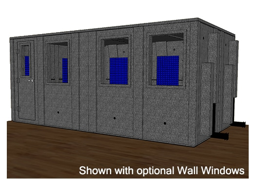 CAD drawing of a WhisperRoom 102186 E with a closed door