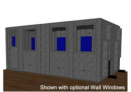 CAD drawing of a WhisperRoom 102186 S with a closed door