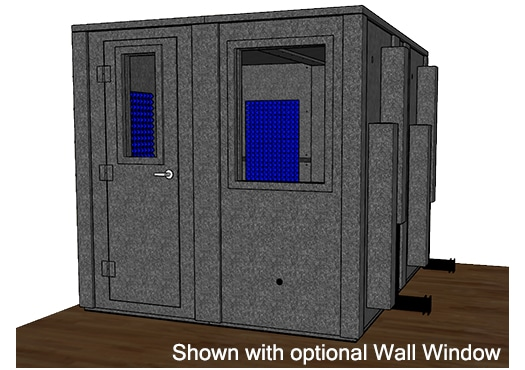 CAD drawing of a WhisperRoom 10284 E with a closed door