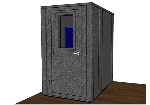 CAD drawing of a WhisperRoom 4872 E with the door closed