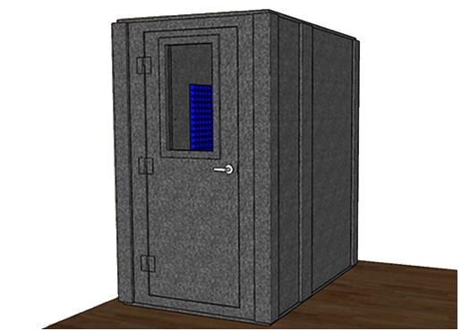 CAD drawing of a WhisperRoom 4872 S with a closed door