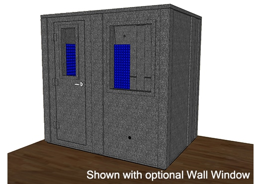CAD drawing of a WhisperRoom 6084 E with a closed door