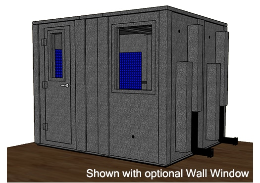 CAD drawing of a WhisperRoom 84102 E with the door closed