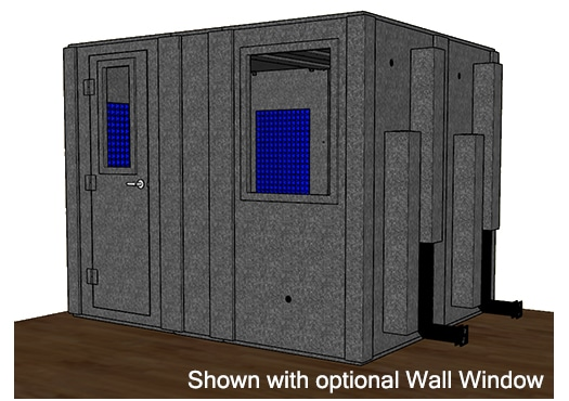 CAD drawing of a WhisperRoom 84102 S with the door closed