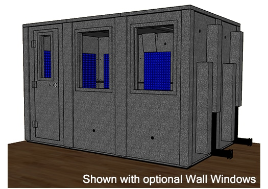 CAD drawing of a WhisperRoom 84126 E with the door closed
