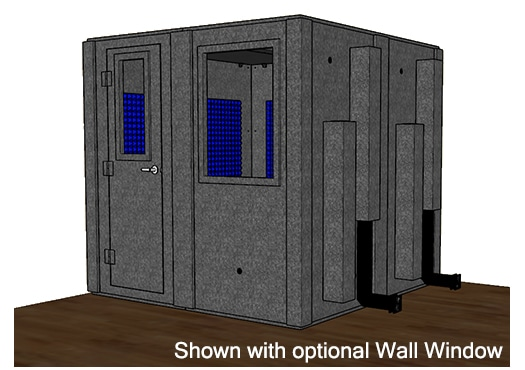 CAD drawing of a WhisperRoom 8484 S with the door closed