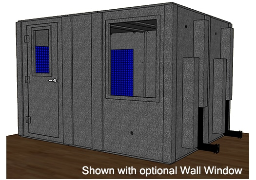 CAD drawing of a WhisperRoom 96120 S with the door closed
