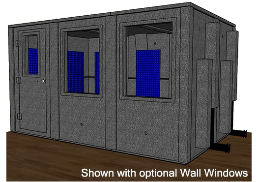 CAD drawing of a WhisperRoom 96144 E with a closed door