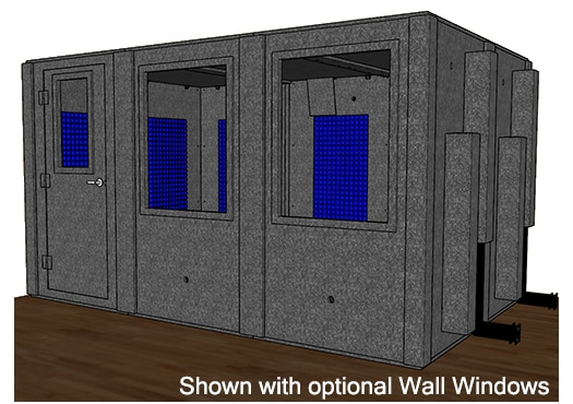 CAD drawing of a WhisperRoom 96144 S with a closed door