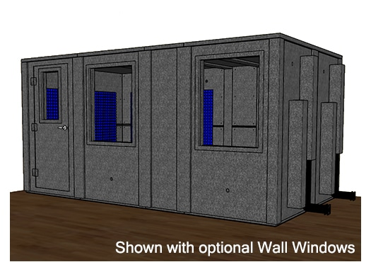 CAD drawing of a WhisperRoom 96168 E with a closed door
