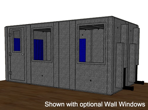 CAD drawing of a WhisperRoom 96168 S with a closed door