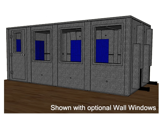 CAD drawing of a WhisperRoom 96192 E with a closed door