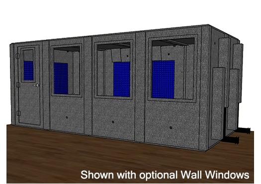CAD drawing of a WhisperRoom 96192 S with a closed door