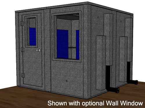 CAD image of a WhisperRoom 9696 E with a closed door