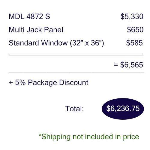 Pricing breakdown of the Audiology Basic package