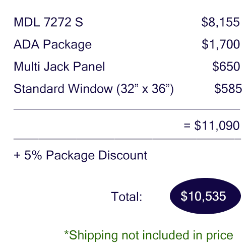 Pricing breakdown of the Audiology Deluxe Package by WhisperRoom