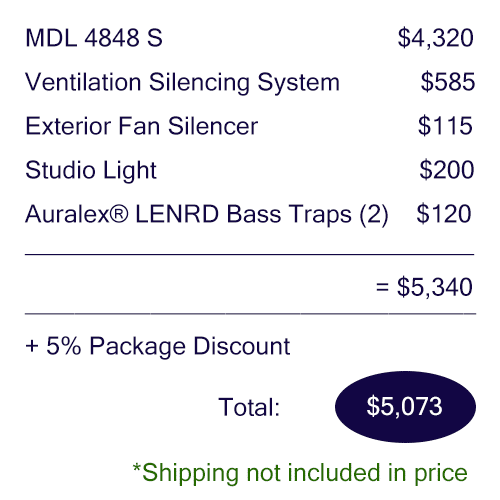 Pricing breakdown of the Voice Over Basic package
