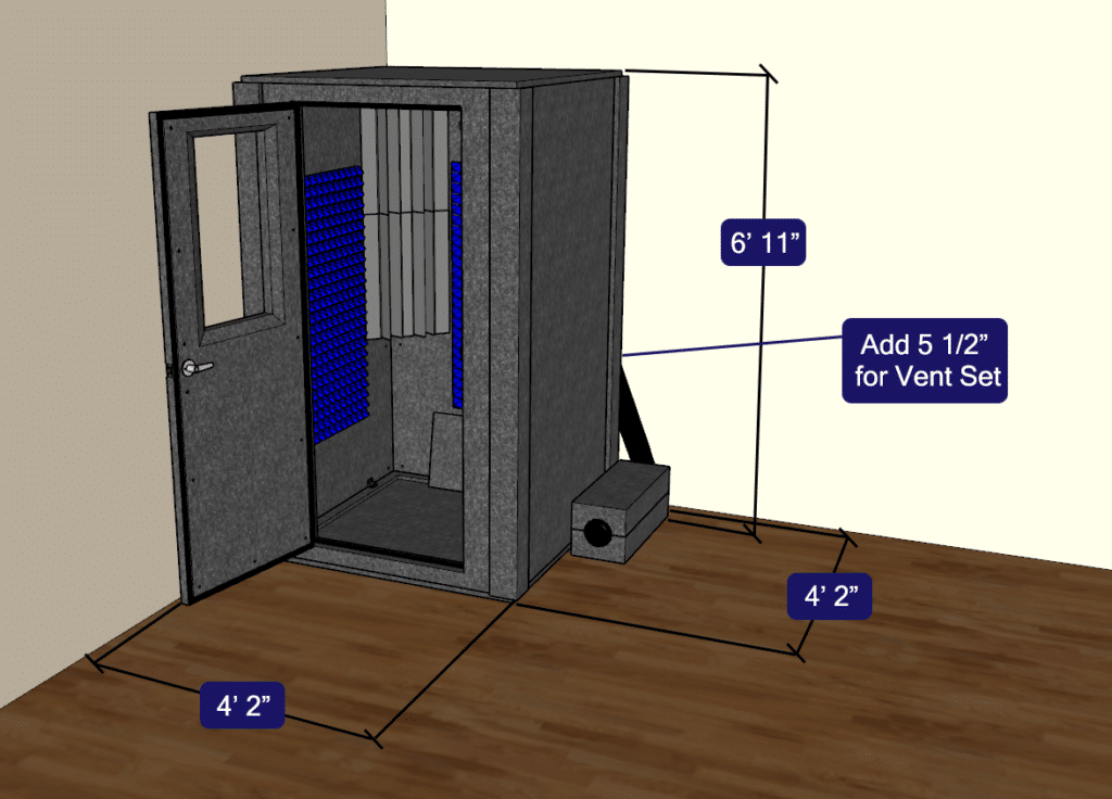 CAD drawing of the Voice Over Basic package