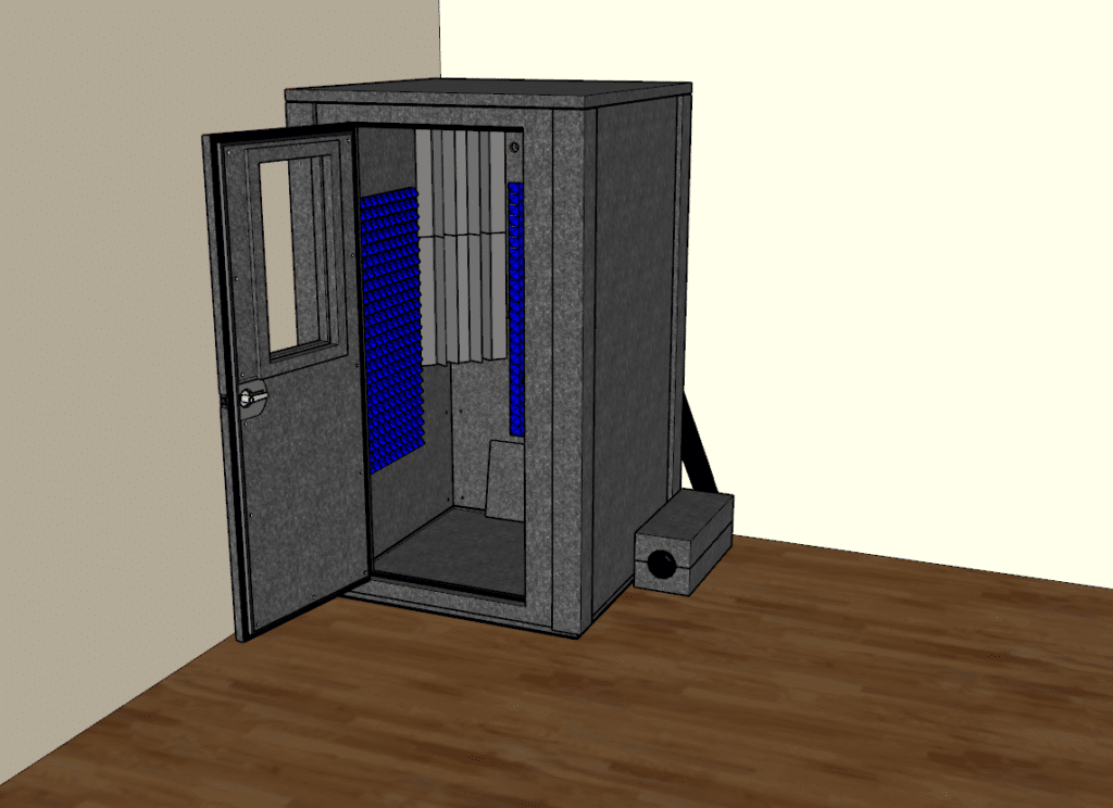 CAD drawing of the Voice Over Deluxe package