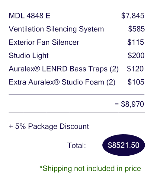 Pricing breakdown of the Voice Over Deluxe package