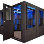 A sound proof booth