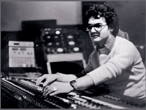 Richard Dodd mixing in his recording studio