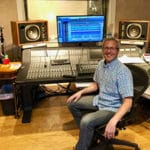 Doug Sarrett inside of his recording studio