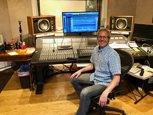 Doug Sarrett inside of his recording studio