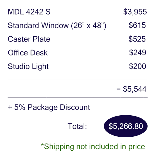 Pricing breakdown of the WhisperRoom Office Booth
